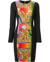 Versus  Printed Panel Dress - Lyst