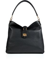 Fendi Leather Hobo Bag in Black - Lyst