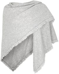 Duffy - Light Grey Cashmere Scarf - Lyst