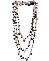 Rosantica By Michela Panero Chimera Onyx Lava  Gold-plated Necklace - Lyst