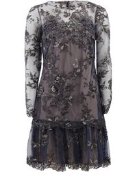 Notte by Marchesa Embroidered Lace Cocktail Dress - Lyst