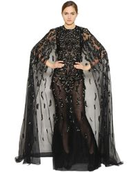 Zuhair Murad - Gradient Embellished Tulle Cape - Lyst