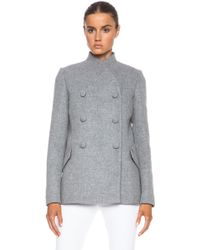 Proenza Schouler Wool Cashmere Double Breasted Jacket - Lyst