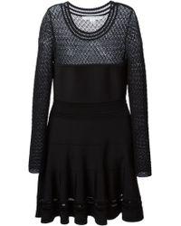 Diane Von Furstenberg Crochet Panel Dress - Lyst