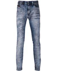 Diesel Crinkled Straight Jeans - Lyst