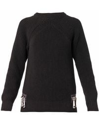 Christopher Kane Doublezip Cottonknit Sweater - Lyst