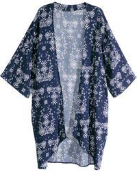 H&M Patterned Kimono blue - Lyst