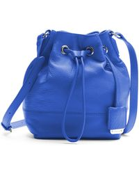 Kenneth Cole - Nevins Leather Small Bucket Bag - Lyst