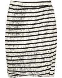 Pam & Gela - Black Striped Jersey Mini Skirt - Lyst