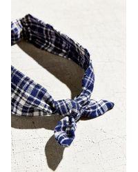 Urban Renewal - Recycled Flannel Knot Headband - Lyst
