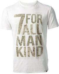 7 For All Mankind Logo Print Tshirt - Lyst