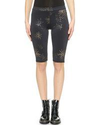 Cynthia Rowley - Print Bike Shorts - Galaxy Print - Lyst