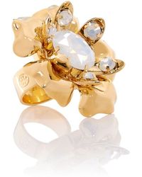 Tory Burch Catlin Flower Ring - Lyst