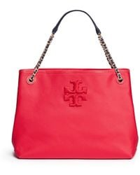 Tory Burch | 'thea' Zip Canvas Chain Tote | Lyst
