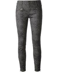 Current/Elliott Snake Skin Pattern Trousers - Lyst