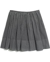 Madewell Gingham Shirred Skirt - Lyst