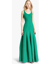 Halston Tulip Cotton Faille Gown - Lyst