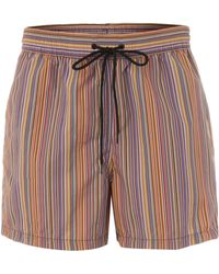 Paul Smith Multistripe Swim Short - Lyst