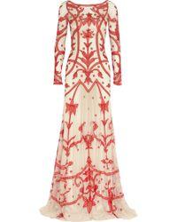 Temperley London Francine Chiffon-appliquéd Tulle Gown - Lyst