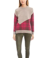 Thakoon | Addition Plaid Combo Crew Sweater | Lyst