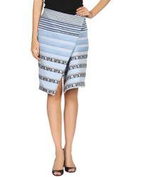 Kenzo Knee Length Skirt - Lyst
