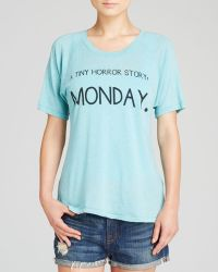Wildfox Tee Tiny Horror Story Monday - Lyst