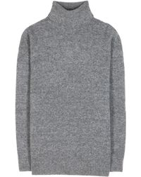 Balenciaga Over Sized Wool Blend Turtleneck - Lyst