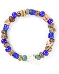 Luis Morais White Gold Detail Bracelet - Lyst
