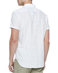 Theory Emer Shortsleeve 1pocket Shirt White - Lyst