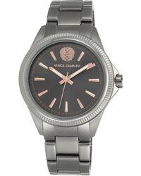 Vince Camuto - Women's Grey Stainless Steel Bracelet Watch 41mm Vc-5267gyrt - Lyst