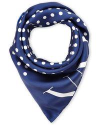Valentino Blue Silk Scarf - Lyst