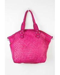 Ecote - Crosshatch Woven Leather Tote Bag - Lyst