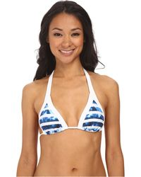 Seafolly Inked Stripe Slide Triangle Top - Lyst