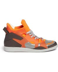 Maison Margiela Mixed Media High Top Sneakers - Lyst