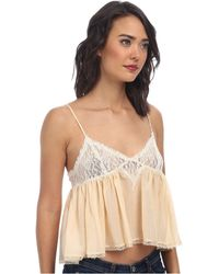 Free People Cami Sweet Lace Top - Lyst