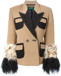 Duro Olowu - Fur Trimmed Sleeves Blazer - Lyst