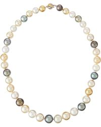 Belpearl Tahitian & Drop Pearl Necklace - Lyst