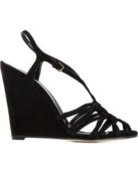 Sergio Rossi Strappy Wedge Sandals - Lyst