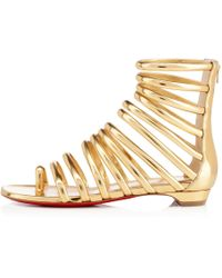 christian louboutin leather Catchetta gladiator sandals | Boulder ...