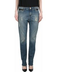 Each x Other Distressed Denim And Leather Jeans - Lyst