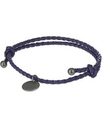 Bottega Veneta Intrecciato Nappa-Leather Bracelet - For Women blue - Lyst