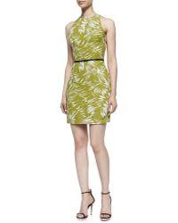 Jason Wu Fitted Racerback Botanical Dress - Lyst