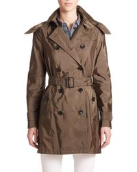 Burberry Brit Balmoral Hooded Trenchcoat - Lyst