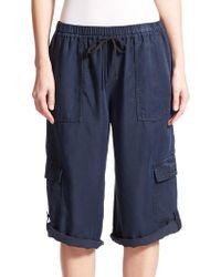 Elie Tahari Ella Cargo Pants blue - Lyst