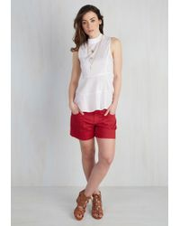 Boom Boom Jeans - Exponential Potential Shorts In Red - Lyst