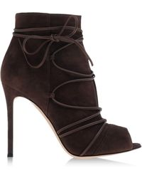 Gianvito Rossi Ankle Boots brown - Lyst