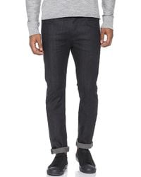 7 For All Mankind Paxtyn Tapered Skinny Jeans - Lyst