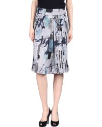 Armani Knee Length Skirt - Lyst