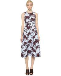 Yigal Azrouël Sleeveless Hawaiian Dress - Foam Multi - Lyst