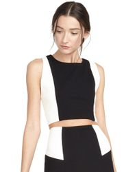 Alice + Olivia Sleeveless Fitted Crop Top - Lyst